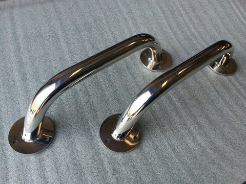 A pair of stainless steel grab rails 600mm marine grade 316 boat hand rails new - southern marine products