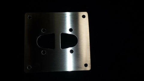 SMALL MOUNTING PLATE FOR EBERSPACHER WEBASTO DIESEL HEATER STAINLESS STEEL d2 - southern marine products