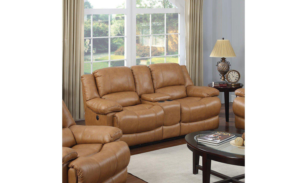 Marshall Avenue Power Reclining Loveseat with Console-Jennifer Furniture