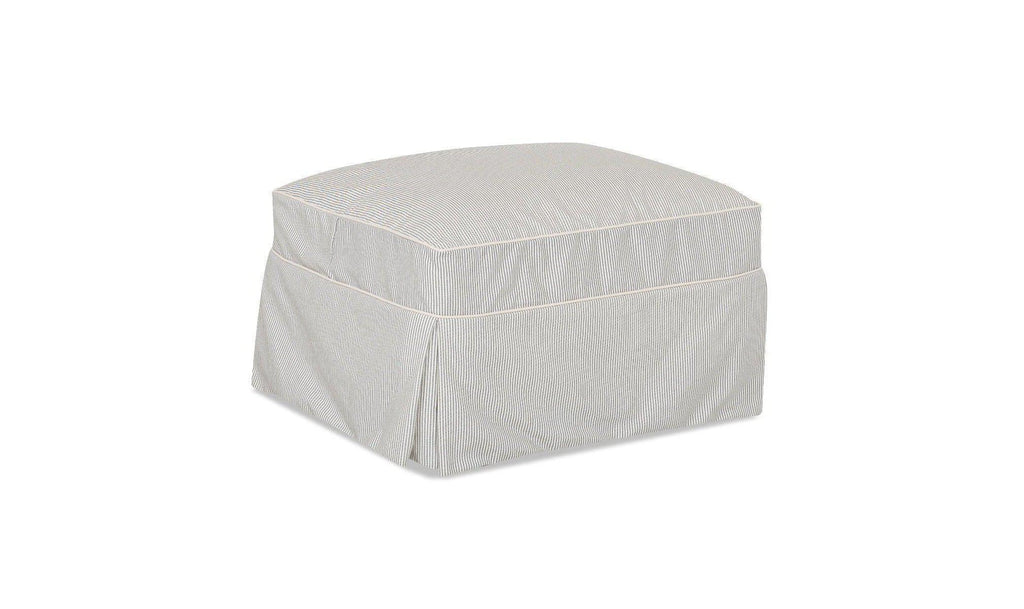 Chatham Slipcover Ottoman-Jennifer Furniture