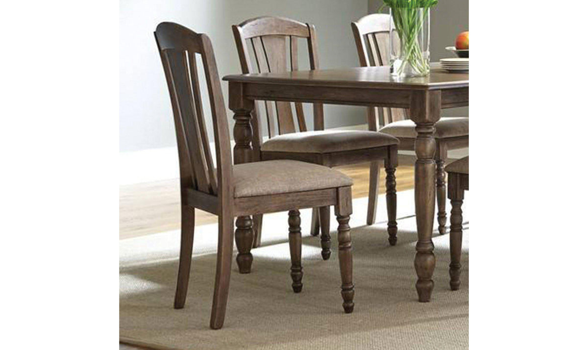 dining side chairs with bowed back and a comfortable upholstered seat