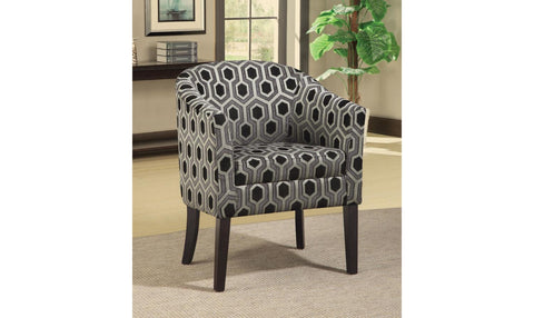 Accent Chair/Ottoman (BLACK)
