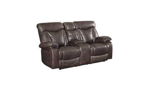 MOTION CHARCOAL LOVESEAT W/ CONSOLE
