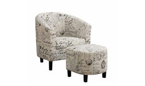 Charlie ACCENT CHAIR WITH OTTOMAN-Jennifer Furniture