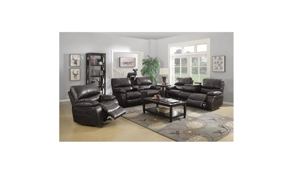 Dark Brown Motion Living Room Set-Jennifer Furniture