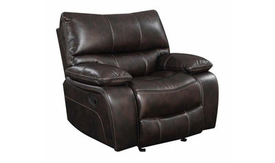 GLIDER DARK BROWN RECLINER-Jennifer Furniture