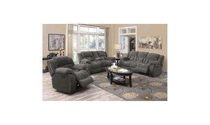 Motion CHARCOAL Living Room Set-Jennifer Furniture