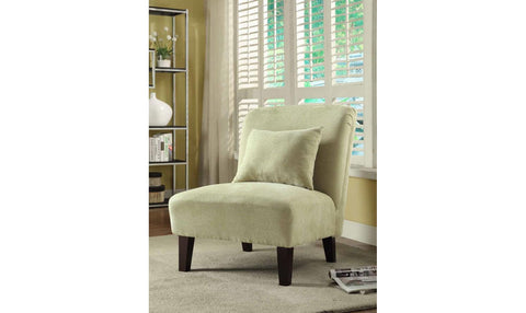 ACCENT CHAIR (CREAM/GREEN)