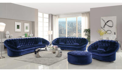 ROYAL BLUE OTTOMAN-Jennifer Furniture