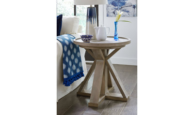 Breckenridge Round End Table-end tables-Legacy Classic Furniture-Jennifer Furniture