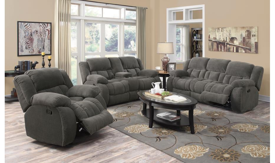GLIDER CHARCOAL RECLINER-Jennifer Furniture
