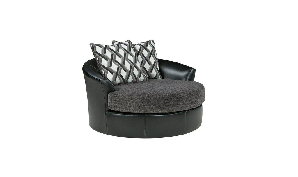 swivel accent chair. Kumasi Oversized Swivel Accent Chair R