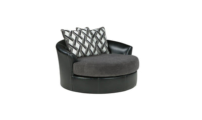 Kumasi Oversized Swivel Accent Chair-Jennifer Furniture