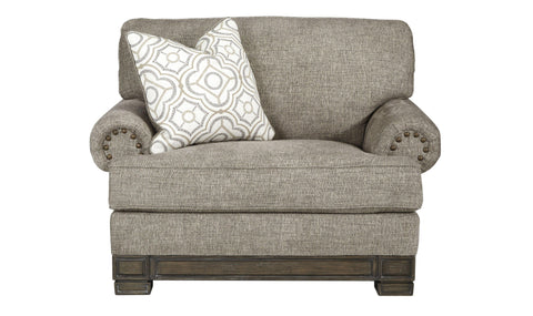 OTTOMAN AND CHAIR (GREY)