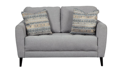 Cardallo Loveseat-Loveseats-Ashley-Pewter-Jennifer Furniture