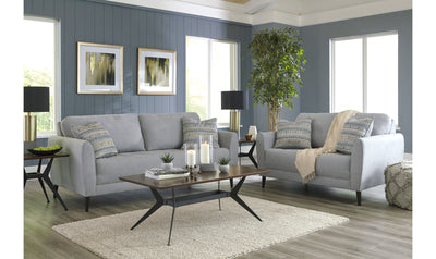 Cardallo Living Room Set-living room sets-Ashley-Pewter-Sofa + Loveseat-Jennifer Furniture