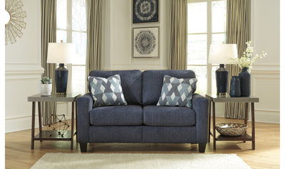 Burgus Loveseat-Loveseats-Ashley-Navy-Jennifer Furniture