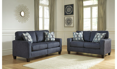 Burgus Living Room Collection-living room sets-Ashley-Navy-Jennifer Furniture