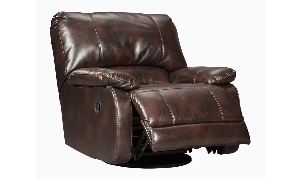 Hallettsville Swivel Glider Recliner-Jennifer Furniture