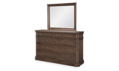 Refined Rustic by Rachael Ray Dresser Mirror-dressers-Legacy Classic Furniture-Jennifer Furniture