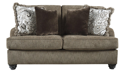 Braemar Loveseat-Loveseats-Ashley-Brown-Jennifer Furniture