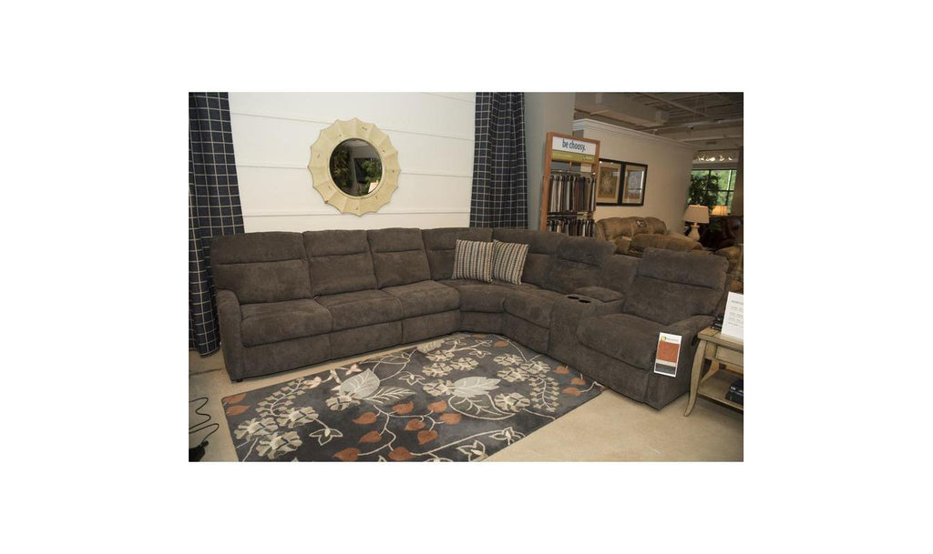 Monti 3-piece Power Reclining Sectional With Console-Jennifer Furniture