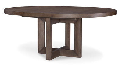Facets Rnd to Oval Pedestal Dining Table-dining tables-Legacy Classic Furniture-Jennifer Furniture