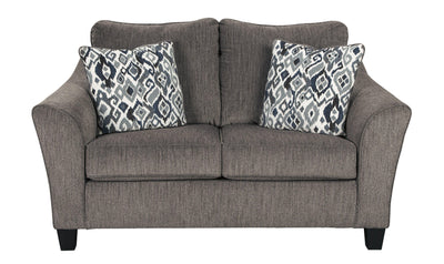Namoli Loveseat-Loveseats-Ashley-Slate-No Sleeper-Jennifer Furniture