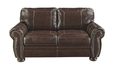 Banner Loveseat-Loveseats-Ashley-Coffee-No Sleeper-Jennifer Furniture