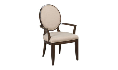 GRANTHAM HALL UPH ARM CHAIR W/DECORATIVE BACK-KD-arm chairs-American Drew-Jennifer Furniture