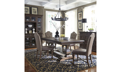 Lucca Pedestal Dining Table-dining tables-Liberty-Brown-Jennifer Furniture