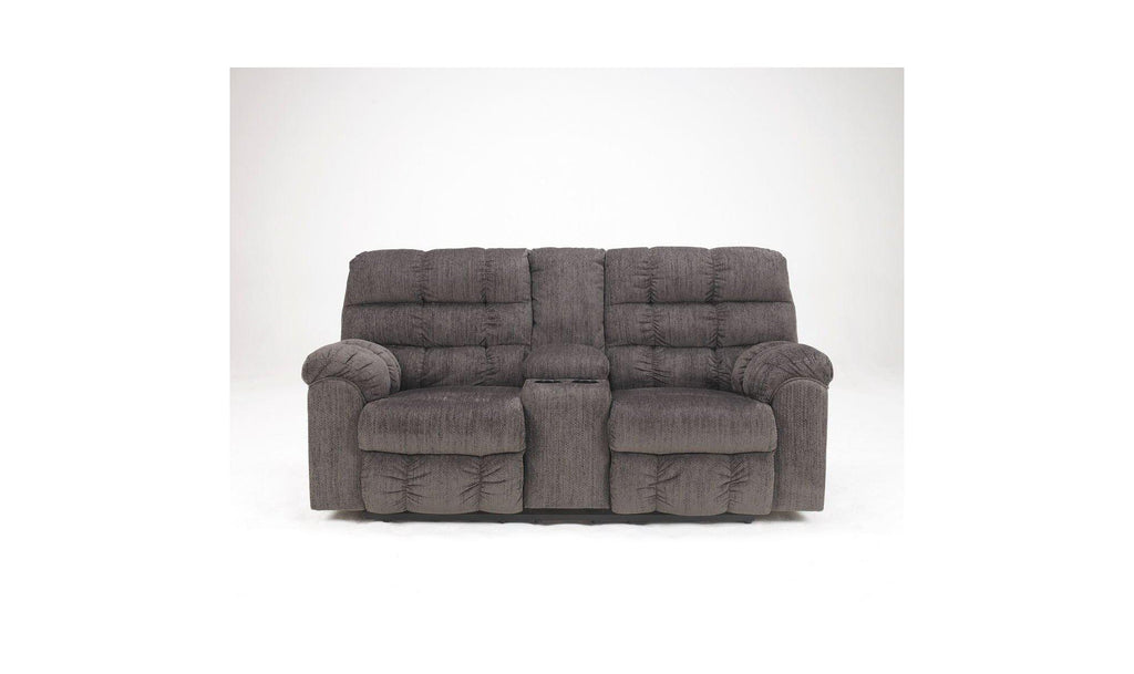 Acieona Reclining Loveseat With Console-Jennifer Furniture