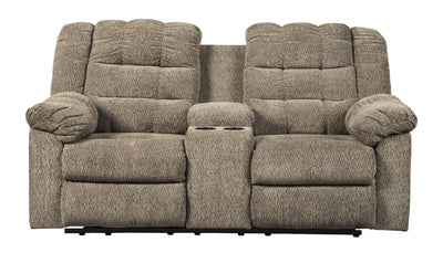 Workhorse DB Rec Loveseat w/Console-Loveseats-Ashley-Cocoa-Jennifer Furniture