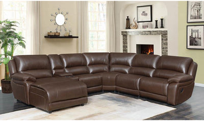 Mackenzie 6 Piece Sectional-sectionals-Coaster-CHESTNUT-Jennifer Furniture
