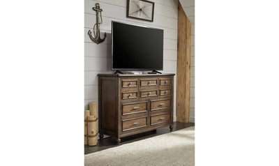 Lake House Bureau 8 drawers-chests-Legacy Classic Furniture-Jennifer Furniture