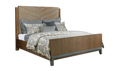 AD MODERN SYNERGY CHEVRON Bed-beds-American Drew-Maple-Cal King-Jennifer Furniture