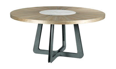 AD MODERN SYNERGY CONCENTRIC ROUND DINING TABLE COMPLETE-dining tables-American Drew-Jennifer Furniture