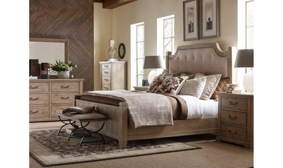 Monteverdi by Rachael Ray Complete Upholstered Low Post Bed, King 6/6-beds-Legacy Classic Furniture-Jennifer Furniture