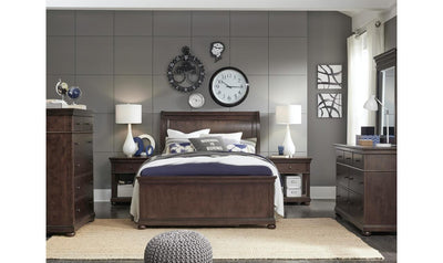 Canterbury Complete Sleigh Bed, Queen-beds-Legacy Classic Furniture-Jennifer Furniture