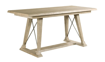 VISTA CLAYTON COUNTER HEIGHT TRESTLE TABLE-COMPLETE-dining tables-American Drew-Jennifer Furniture
