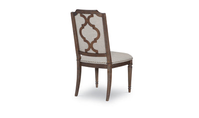 Refined Rustic by Rachael Ray Upholstered Splat Back Side Chair-side chairs-Legacy Classic Furniture-Jennifer Furniture
