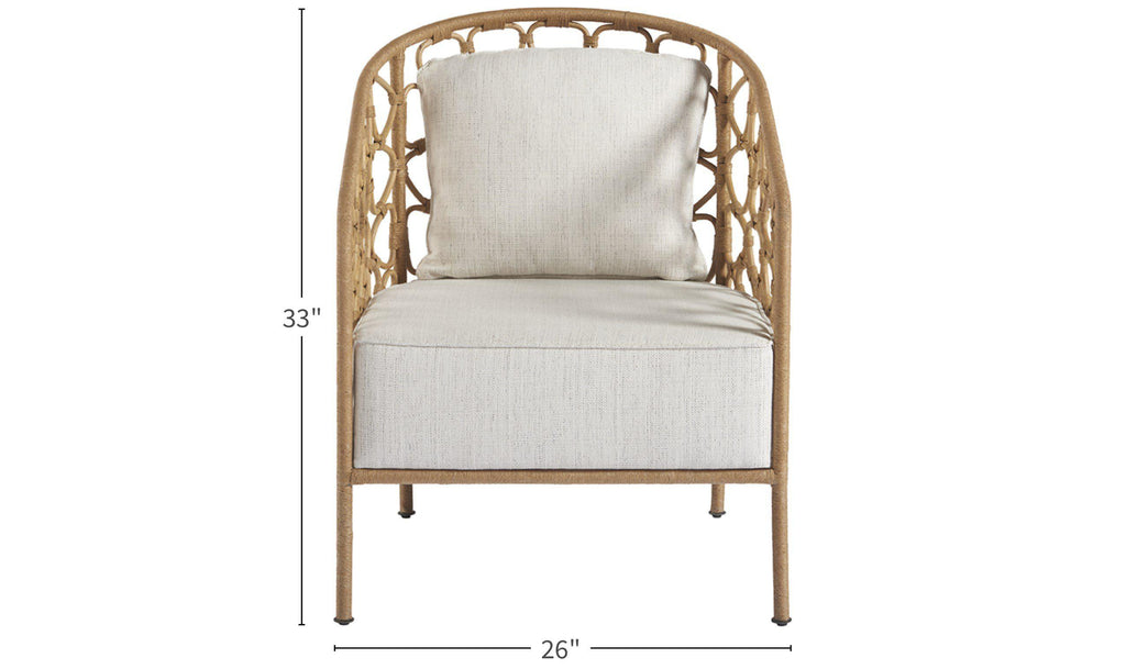 Coastal Living Escape Rattan Pebble Accent Chair-Jennifer Furniture