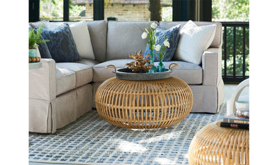 Coastal Living Escape Rattan Scatter Table-Jennifer Furniture
