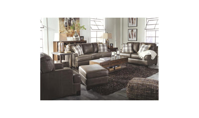 Darwood Living Room Set-living room sets-Ashley-Sofa + Loveseat-Gray-No Sleeper-Jennifer Furniture