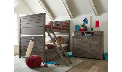 Bunkhouse Complete Full over Full Bunk Bed-beds-Legacy Classic Furniture-Jennifer Furniture