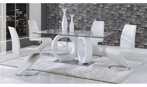 Exceptional Anthe Dining Set Table And 4/6 Chairs Option