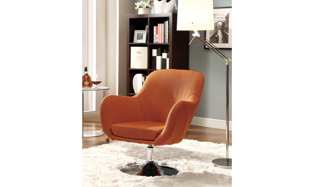 ACCENT CHAIR (ORANGE)-Jennifer Furniture