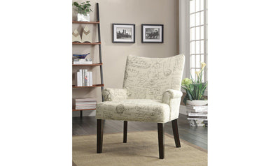 ACCENT CHAIR (OFF WHITE)-Jennifer Furniture