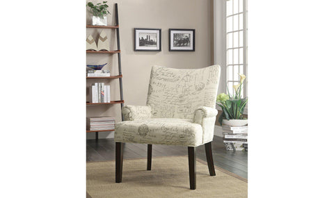 ACCENT CHAIR (CREAM/BEIGE)