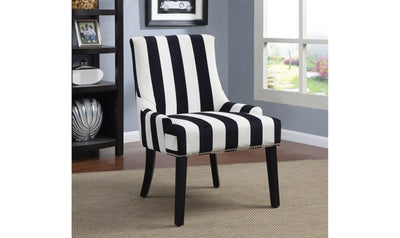 ACCENT CHAIR (NAVY/WHITE)-Jennifer Furniture